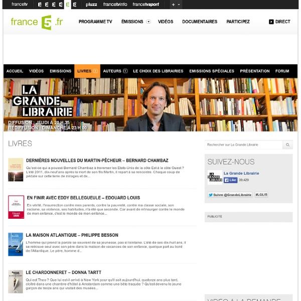 Livres - La Grande Librairie