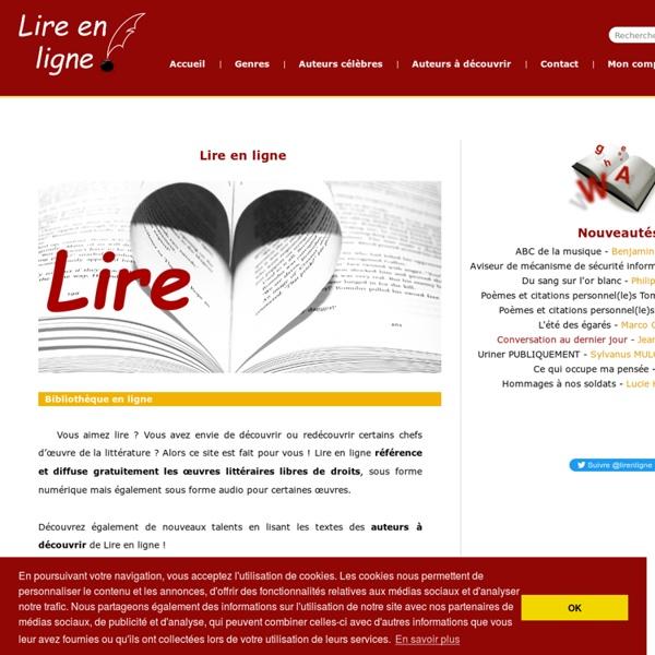 Lire en ligne - Livres sur internet gratuits (free ebooks online)