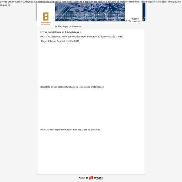 Livres numériques en bibliothèque