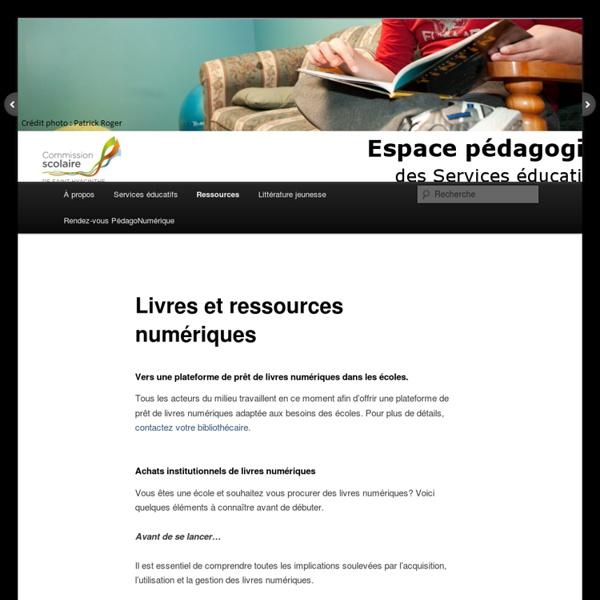 Livres et ressources numériques