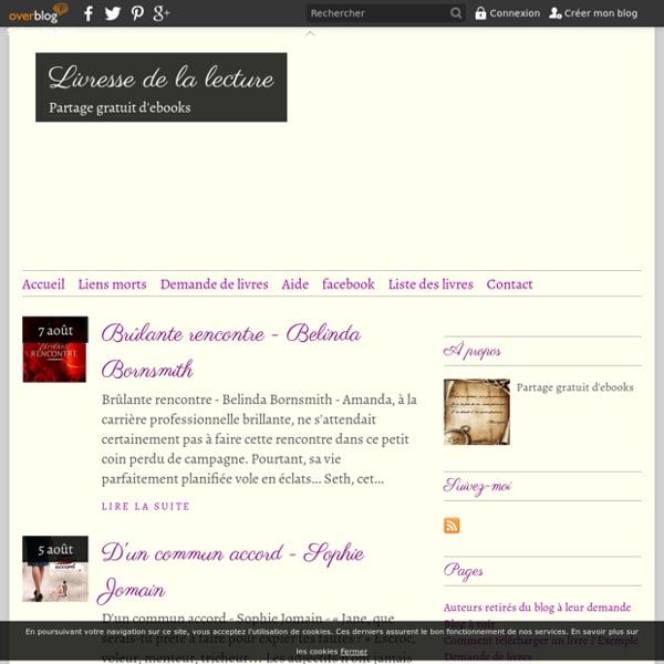 Livresse de la lecture - Partage gratuit d'ebooks