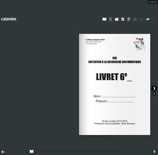 Livret IRD 6e 2014-2015