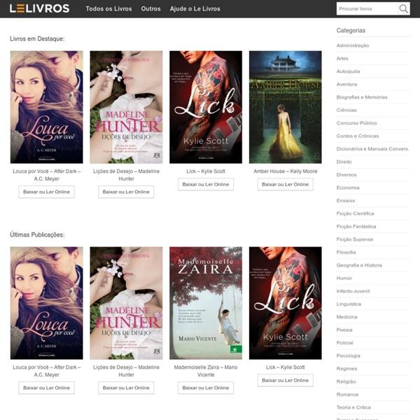 Le Livros - Livros em ePUB, MOBI e PDF - Livros para iPad, iPhone, Android, Kobo e Kindle