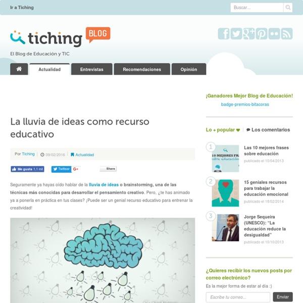La lluvia de ideas como recurso educativo