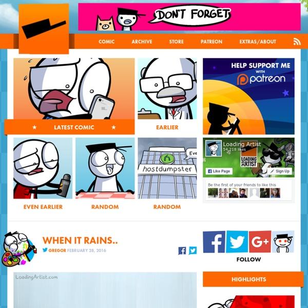 Loading Artist - A webcomic by Gregor Czaykowski