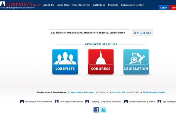 Lobbyists.info - Your Lobbying Information Resource