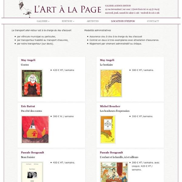 L'Art à la page - expositions en location