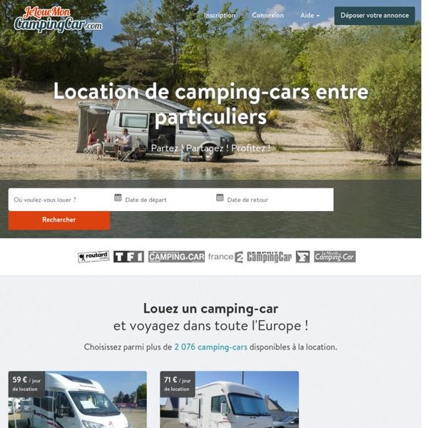 Location de Camping-Cars et Vans entre Particuliers