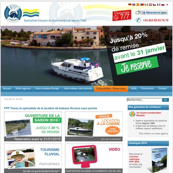 Location bateau, location péniche et croisiere fluviale - Tourisme fluvial avec France Passion Plaisance