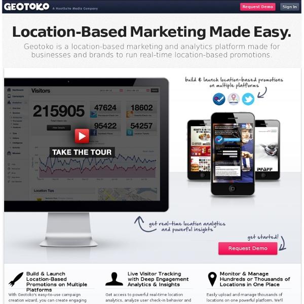 Geotoko - Real-Time Location Based Marketing & Analytics Platform
