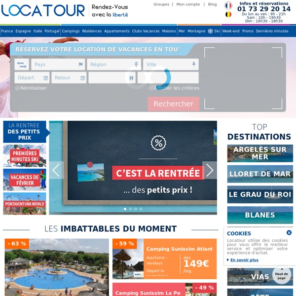 Vacances en France, location vacances residence, camping, village club