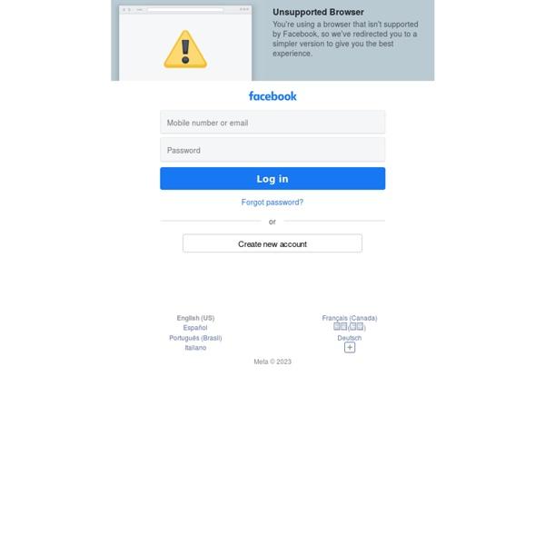 Se connecter à Facebook