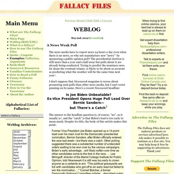 Logical Fallacies: The Fallacy Files