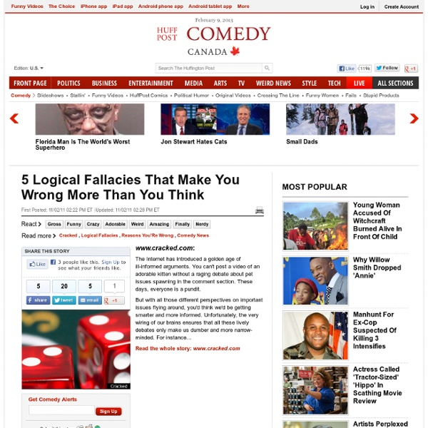 5 Logical Fallacies That Make You Wrong More Than You Think
