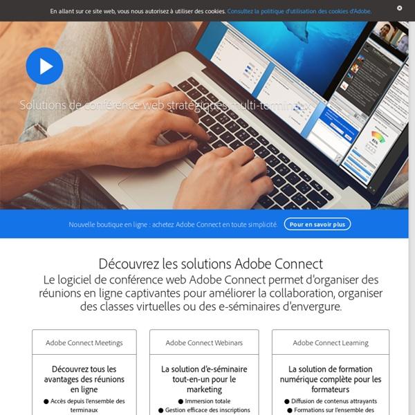Logiciel de conférence web Adobe