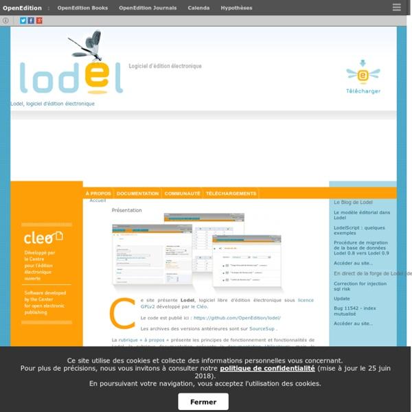 Lodel, logiciel d'édition électronique