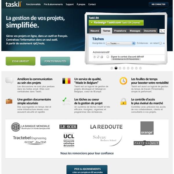 Taskii. La gestion de projets, simplifiée. » Présentation