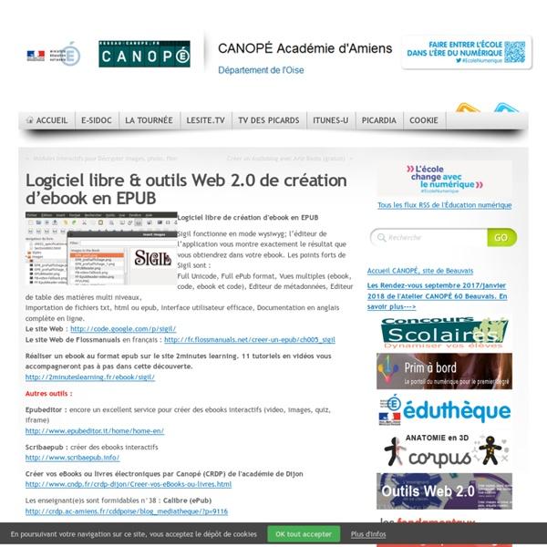 Logiciel libre & outils Web 2.0 de création d'ebook en EPUB
