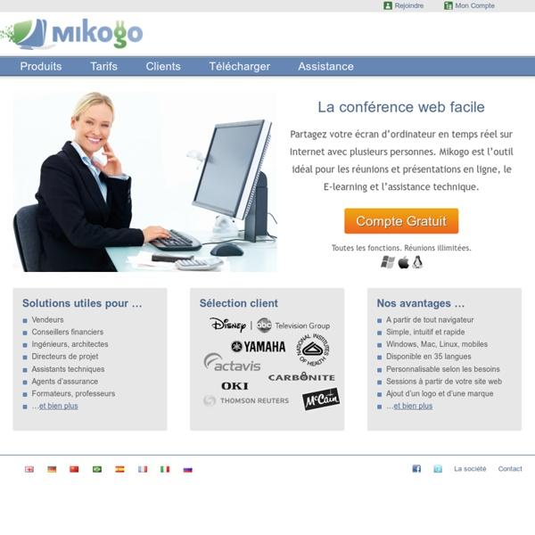 Mikogo: logiciel de partage d´écran et de conférence web