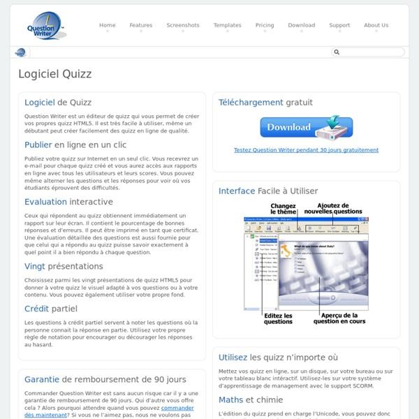Logiciel Quizz - Créez des Quizz Rapides en Quelques Minutes