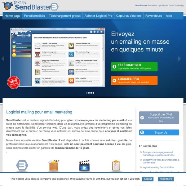 Logiciel Emailing: SendBlaster Email Marketing Logiciel