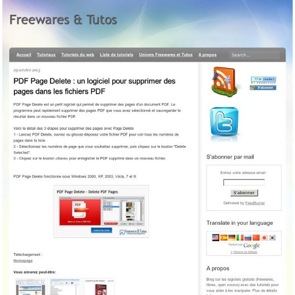 Un logiciel pour supprimer des pages dans les fichiers PDF