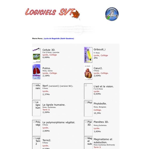 Logiciels SVT, Académie de Toulouse, auteur Pierre Perez