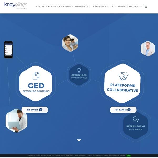 Editeur de logiciel de GED, de collaboration, de knowledge management et de réseau social d'entreprise - Knowings