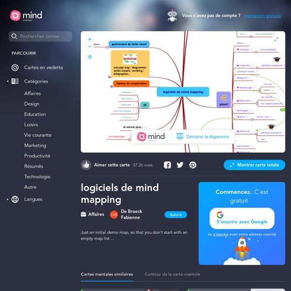 Liste logiciels gratuits de mind mapping