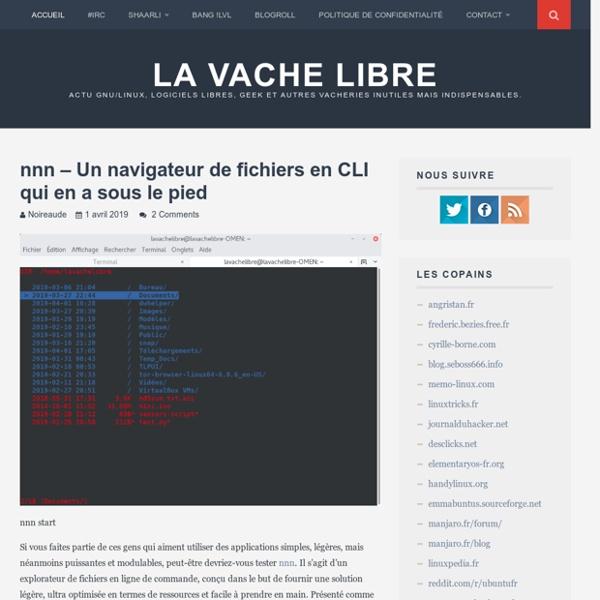 La vache libre - Actu GNU-Linux, Logiciels Libres, Geek et autres vacheries inutiles mais indispensables.