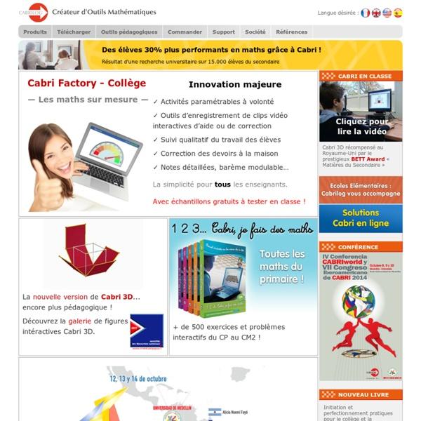 Logiciels de mathématiques (géométrie, algèbre) - Programme mathématiques primaire, collège et lycée