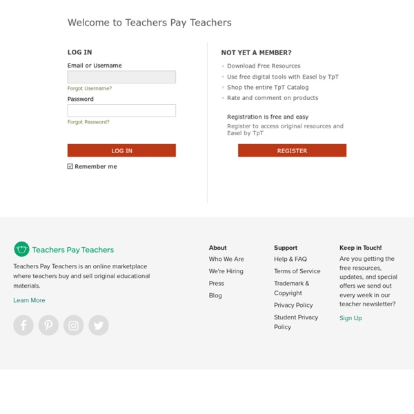 Login - TeachersPayTeachers.com