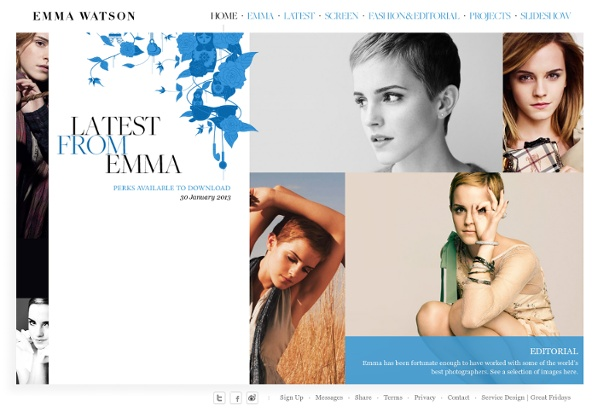 Emma Watson The Official Website