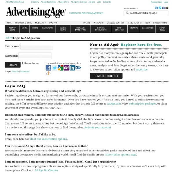 Login - Advertising Age