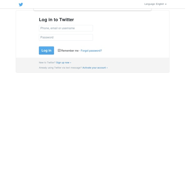 Sign in to Twitter