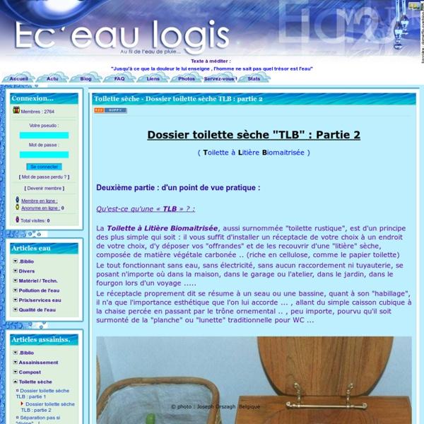 Éc'eau-logis - Toilette sèche - Dossier toilette sèche TLB : partie 2