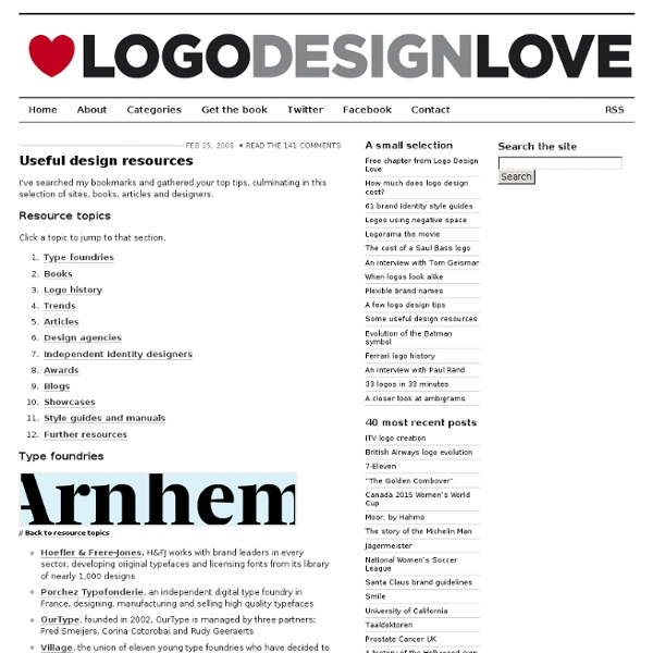 Logo design resources