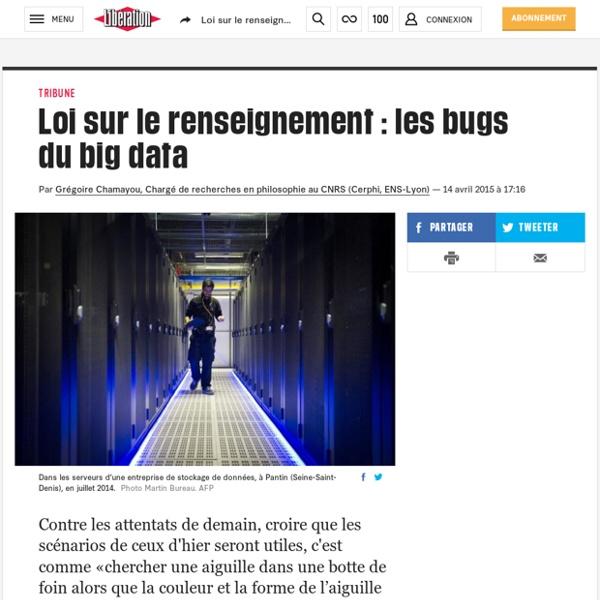 Loi sur le renseignement: les bugs du big data
