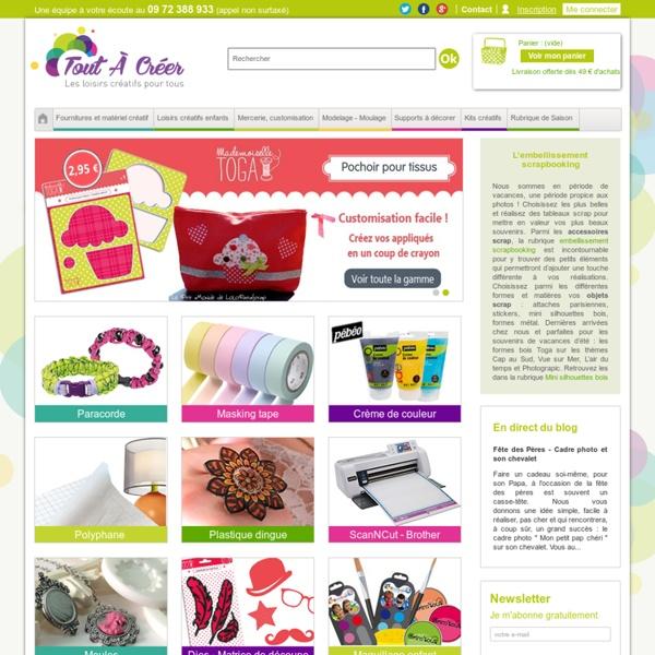 Loisirs créatifs, fournitures, serviettes papier, feutrine / TOUTACREER