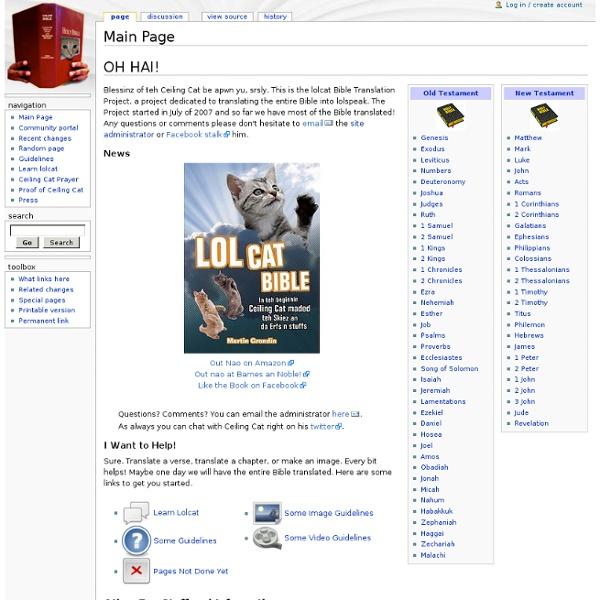 Main Page - LOLCat Bible Translation Project