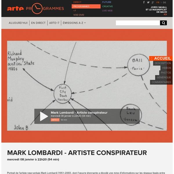 Mark Lombardi - Artiste conspirateur
