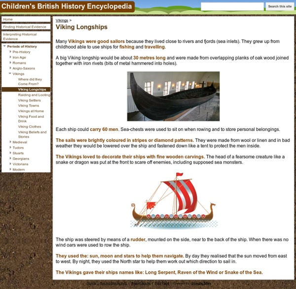 Viking Longships - Children's British History Encyclopedia