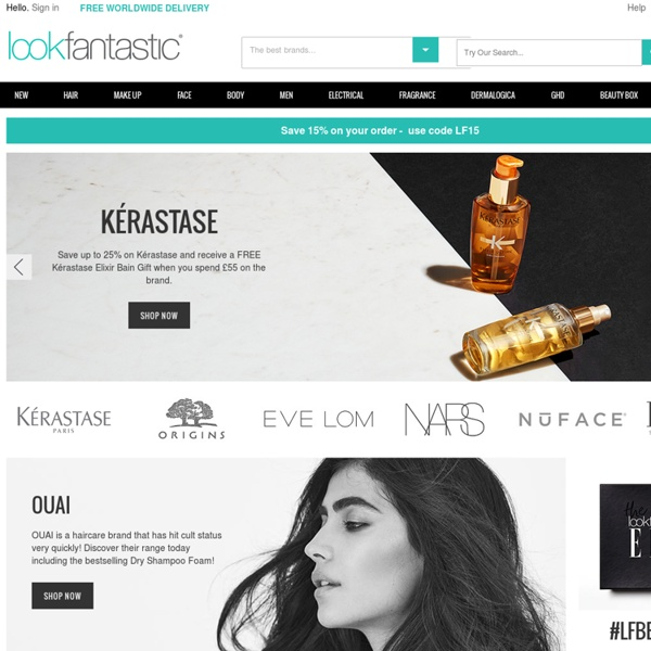 Lookfantastic.com - Home of luxury brands such as ghd, Redken, Aveda, Clarins, Decleor and many more