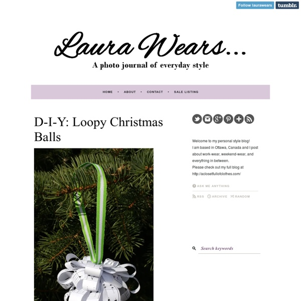 D-I-Y: Loopy Christmas Balls