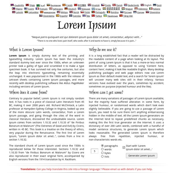 b2294df5d Lorem Ipsum - All the facts - Lipsum generator | Pearltrees