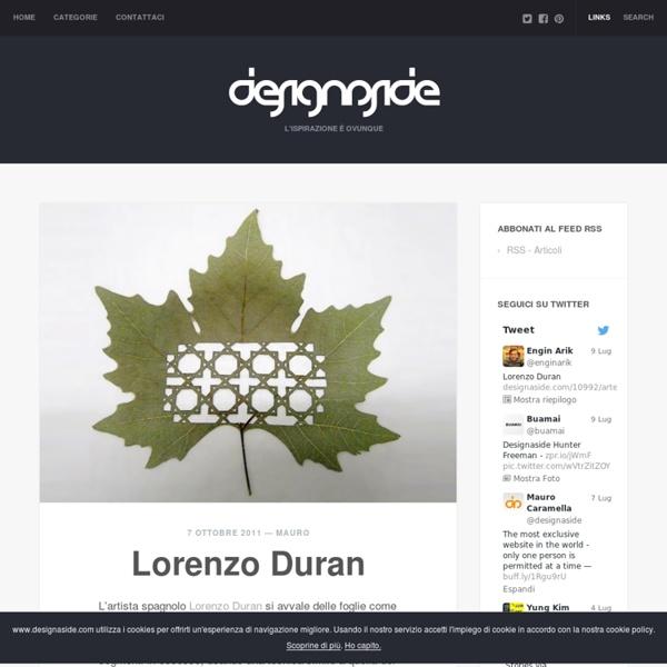 Gravure sur feuilles d'arbres - Lorenzo Duran