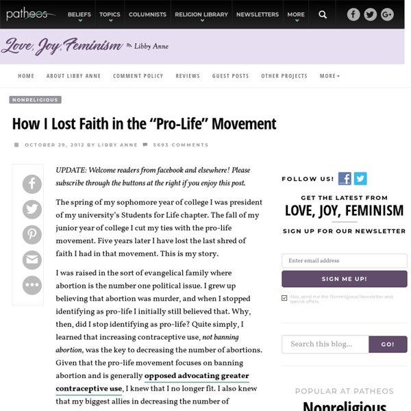 "How I Lost Faith in the ""Pro-Life"" Movement"