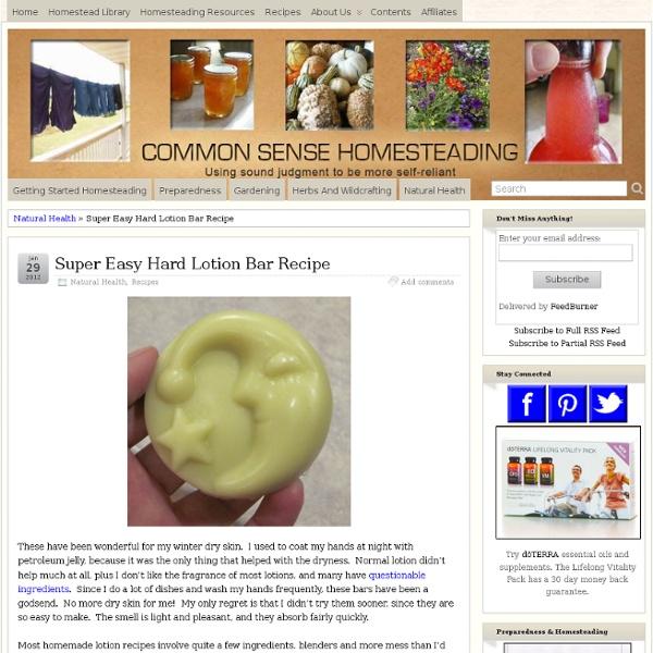 Super Easy Hard Lotion Bar Recipe