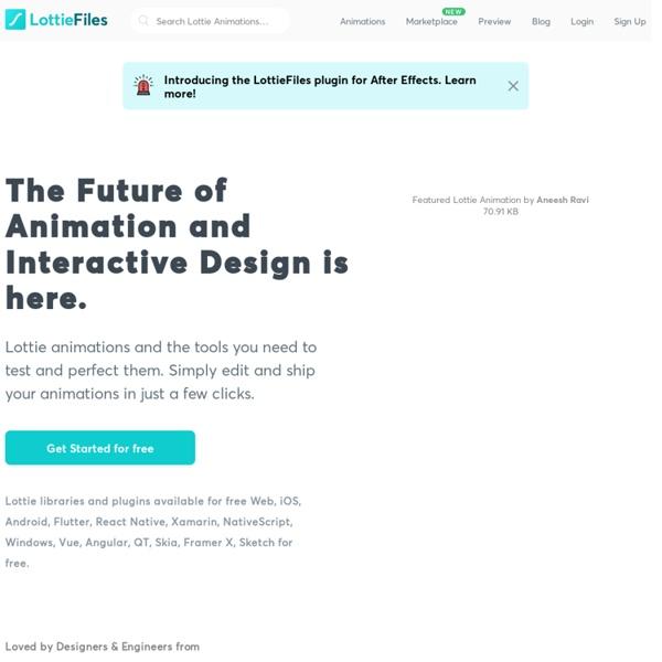 LottieFiles - Free animation files built for Lottie