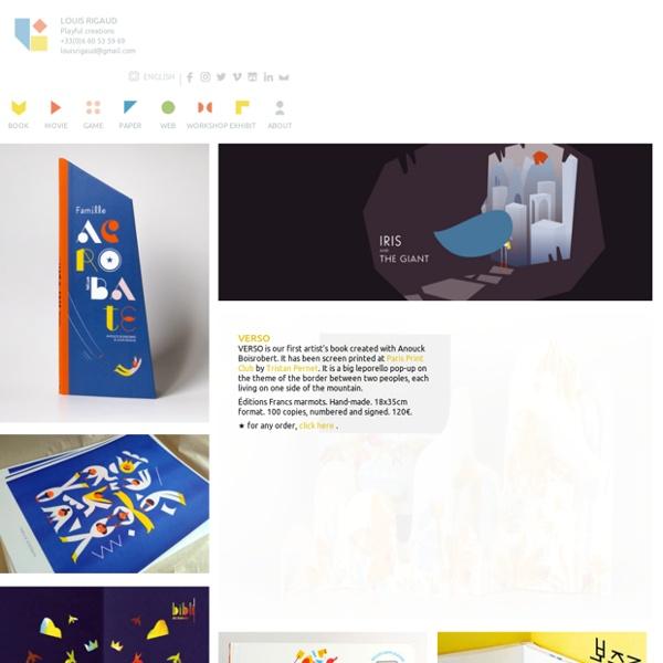 Louis Rigaud - illustration, animation, jeu, web, graphisme, typo, atelier